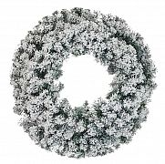 Coroana din pin artificial Crown Garland Snow